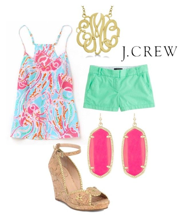"""""""Southern Belle Casual"""" by violin1234 ❤ liked on Polyvore featuring J.Crew, Allurez, Kendra Scott and Jack Rogers"""