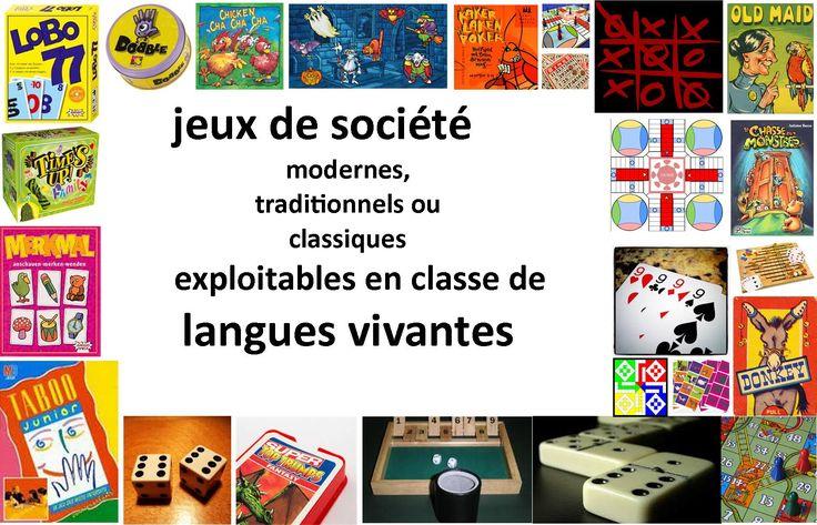 Espace pédagogique : pratique d'une langue vivante étrangère - répertoire de jeux en langues vivantes