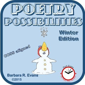 POETRY UNIT:  Poetry Possibilities -- Winter EditionYou will love this poetry unit!  POETRY POSSIBILITIES -- WINTER EDITION is a collection of 20 poems about winter topics.  Each poem has a custom designed set of possibilities.  The possibilities include a teaching point related to poetry with skills and activities that may or may not relate to poetry.