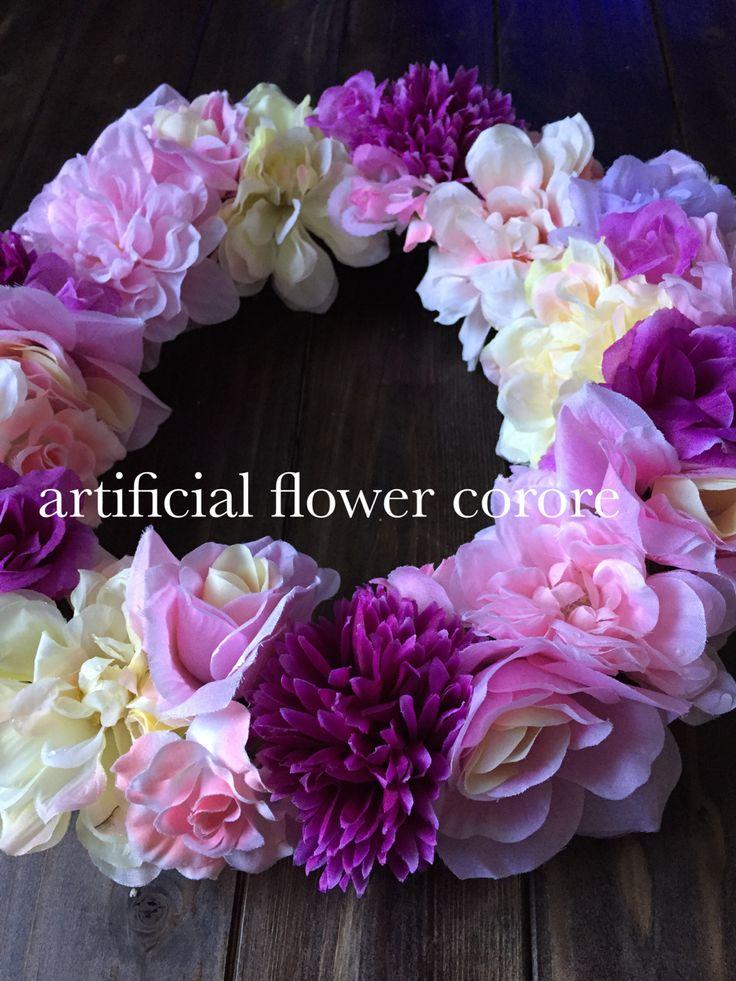 全てダイソー様の造花で制作♡