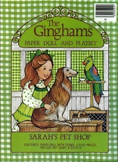 The Ginghams Paper Doll Set ~ Loved these and the coloring books!