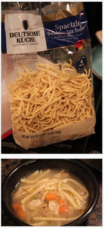 ALDI Spaetzle = YUMMY Homemade Chicken Noodle Soup