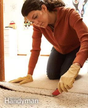 Beginner tips for removing carpet .. #remodeling #updatingahome