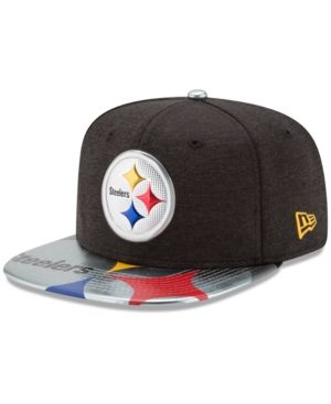 New Era Pittsburgh Steelers 2017 Draft 9FIFTY Snapback Cap - Black/Yellow Adjustable