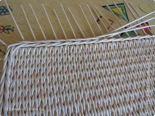 Поделка изделие Плетение Март-апрель Трубочки бумажные фото 63