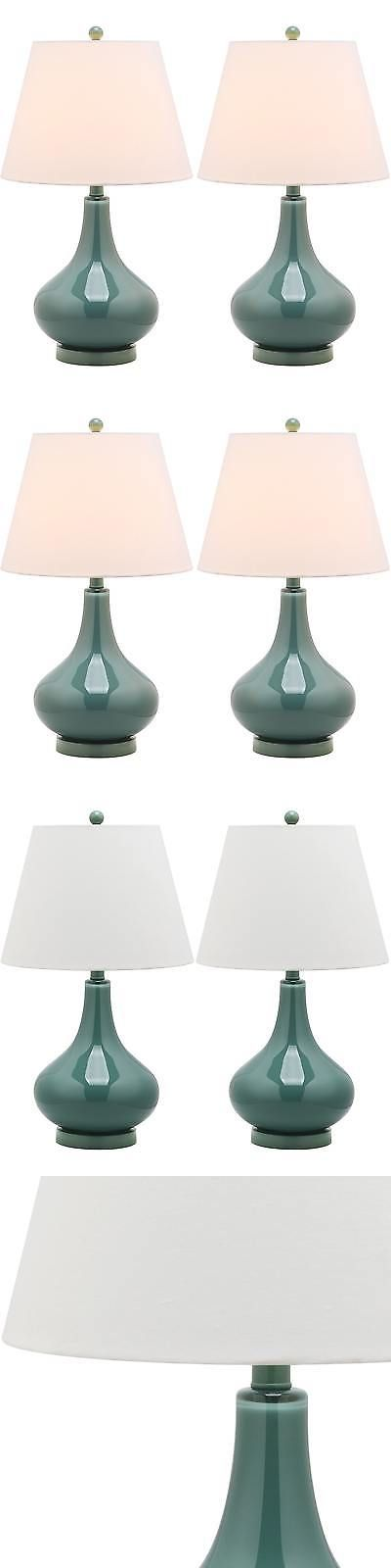 Lamps 112581: Safavieh Lighting 24-Inch Amy Gourd Glass Marine Blue Table Lamps (Set Of 2) -> BUY IT NOW ONLY: $129.99 on eBay!