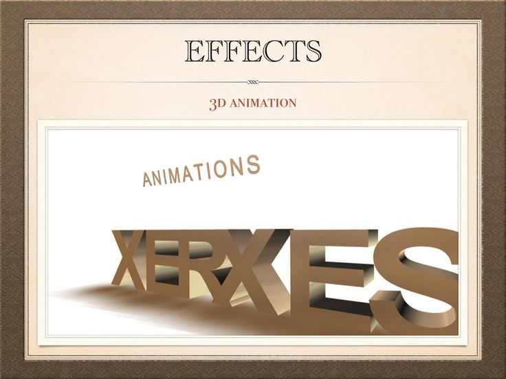 Effects - 3D Animation