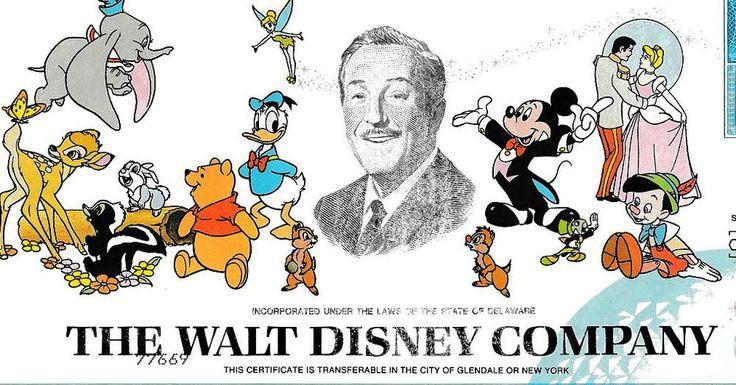 Walt Disney Company Original Aktie 1998 Comic Film Micky Maus Donald Duck Bambi