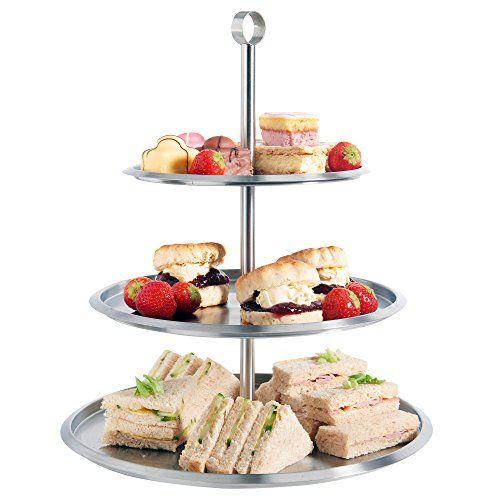 VonShef: Présentoir à gâteaux à 3 étages en acier inoxydable pour présentation de gâteaux, cupcakes, biscuits, tartelettes, gâteau de mariage VonShef http://www.amazon.fr/dp/B00E0IIQOK/ref=cm_sw_r_pi_dp_ZWvqvb0H4X266