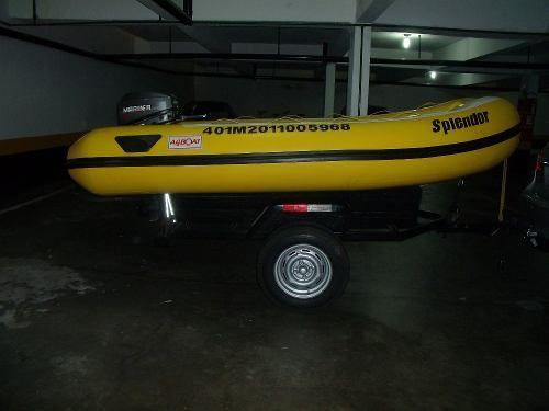 Bote Inflável Arboat Impecável Com Motor De Popa 15hp - R$ 7.000,00