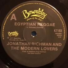 EGYPTIAN REGGAE / ROLLER COASTER BY THE SEA ~ JONATHAN RICHMAN AND THE MODERN LOVERS 7 inch single $20.00 AUD
