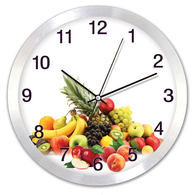 Metal Meyveli Mutfak Duvar Saati  Ürün Bilgisi ;  Ürün maddesi : Alüminyum çerceve, Gerçek cam Ebat : 30 cm  Mekanizması (motoru) : Akar saniye, saat sessiz çalışır Metal Meyveli Mutfak Duvar Saati Saat motoru 5 yıl garantilidir Yerli üretimdir Duvar Saati sağlam ve uzun ömürlüdür Kalem pil ile çalışmaktadır Gördüğünüz ürün orjinal paketinde gönderilmektedir. Sevdiklerinize hediye olarak gönderebilirsiniz