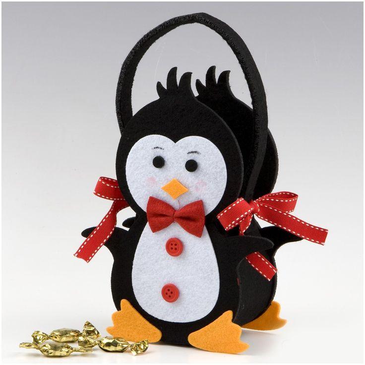pinguinos de fieltro navideños - Buscar con Google