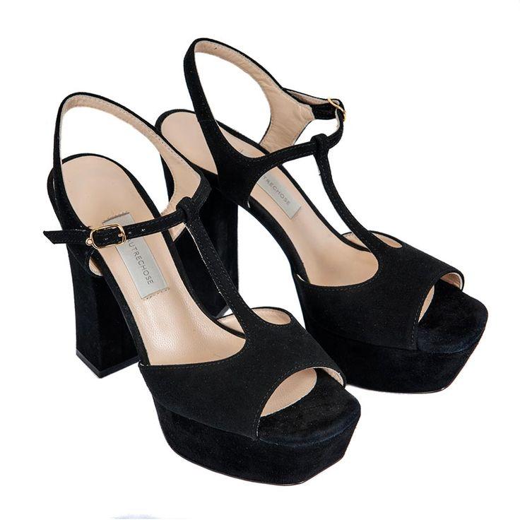 Sandalo in camoscio nero L'Autre Chose da Maja