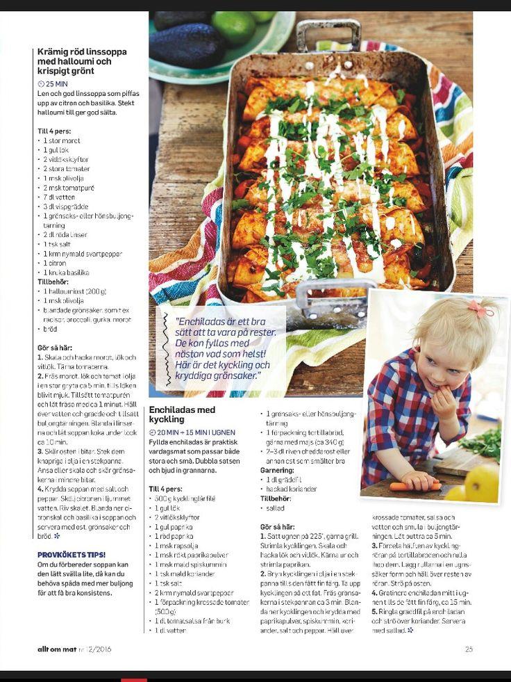 Enchiladas kyckling Lisa Leake AoM 2016