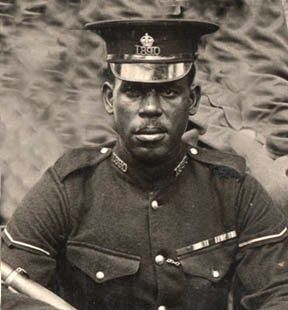 Lance-Corporal Julien was a police officer from Trinidad who served in the British West Indies Regiment in both WWi and WWII. For his actions at the Damieh Bridgehead in the Jordan Valley of Palestine in 1918, he was awarded the Distinguished Conduct Medal (recognising acts of gallantry by non-commissioned officers, regarded as second only to the Victoria Cross in prestige).The Caribbean History Archives: World War I in Trinidad