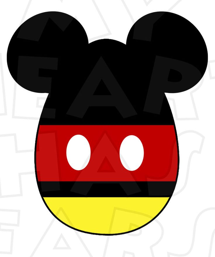 Mickey Mouse Easter Egg INSTANT DOWNLOAD digital clip art DIY iron on transfer for t-shirts by My Heart Has Ears