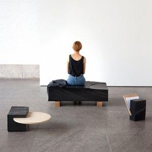 """Natalie Weinmann's slate furniture  """"not designed to fit one purpose"""""""