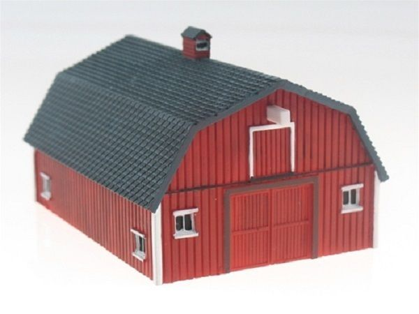 IMEX N Scale 6302 Stengels Barn Built Up and Painted Building New!
