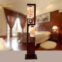 Античная LED Home Decor Керамические Абажур Кабинет Современной Давние Свет Деревянный Пол Лампы Для Гостиной