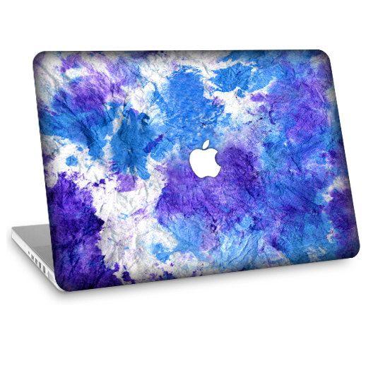 """Apple Macbook Air 11"""" 13""""  Decal Skin w/  Apple Cutout - Tie Dye. $24.95, via Etsy."""