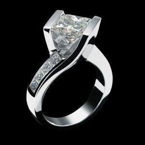 unique princess cut engagement rings