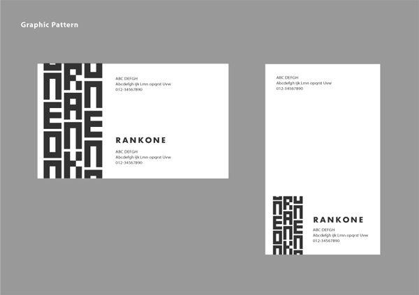 株式会社 Rank One CIロゴ 名刺デザイン イメージ