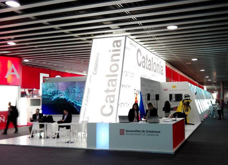Stand de Catalunya - Videowall #MWC2016 Proveedor audiovisual para stands y eventos en Mobile World Congress - MWC 2016 - Soluciones Audiovisuales: alquiler e instalación para eventos y proyectos en Madrid y Barcelona