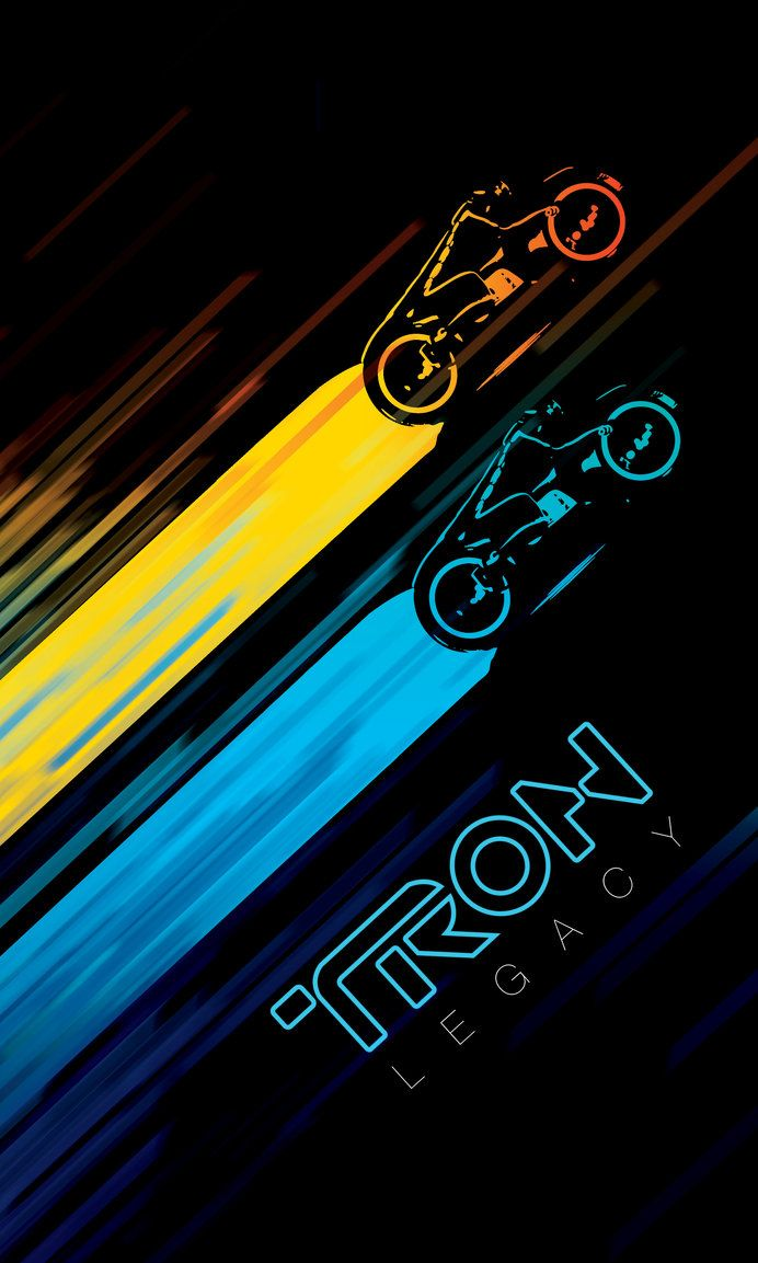 Tron Legacy poster. The movie sucked (but had a good soundtrack) but this looks pretty good.