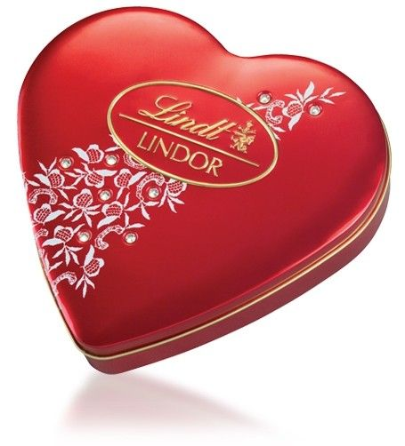 Lindt Lindor Heart Tin With Crystals By Lindt 212g A Valentine S