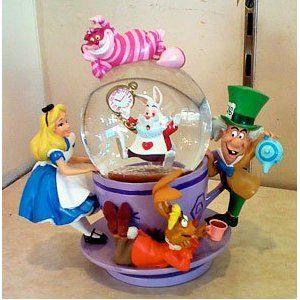 Disney Alice in Wonderland Spinning Snowglobe NEW