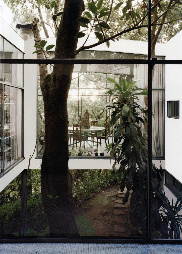 Lina Bo Bardi - Casa de Vidrio (glass house), Sao Paulo 1951. Scan from here.