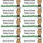 Camping Themed Science & Social Studies Journal Label