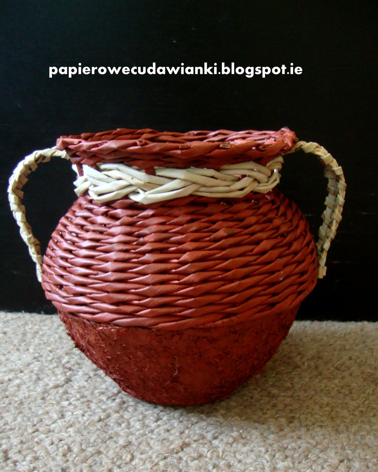 Paper mache and wicker paper
