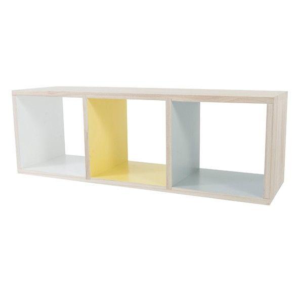 Bookcase with 3 Compartments - Sebra - Furniture | MyLittleRoom