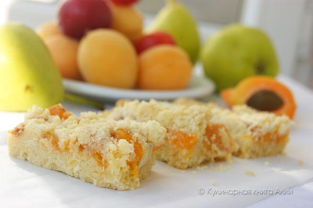 Пирог с абрикосами насыпной