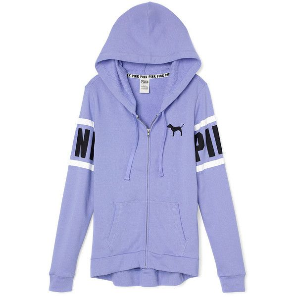 PINK Perfect Full-Zip Hoodie ($50) ❤ liked on Polyvore featuring tops, hoodies, jackets, pink, sweatshirt hoodies, slim fit hoodies, slim hoodie, hooded pullover and hooded sweatshirt