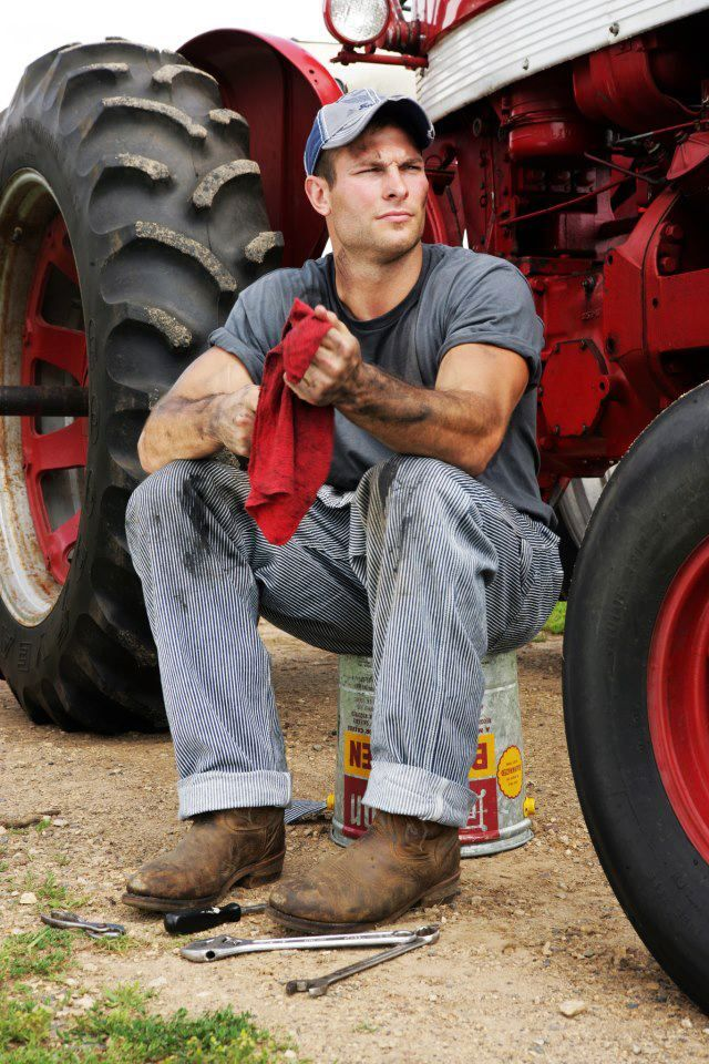 Guy Fixing Tractor : Images about hot guys on tractors pinterest