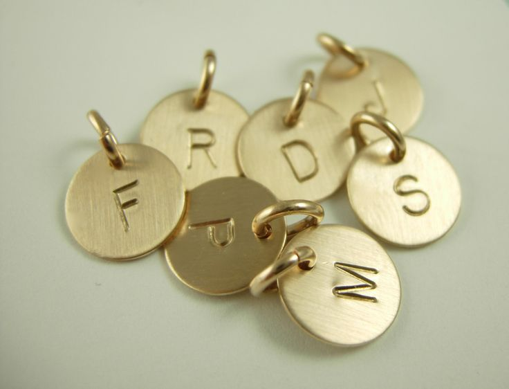 Mini Initial Charms-Name Charms-Initial Charms. $12.50, via Etsy.    with my husbands and daughters first initial