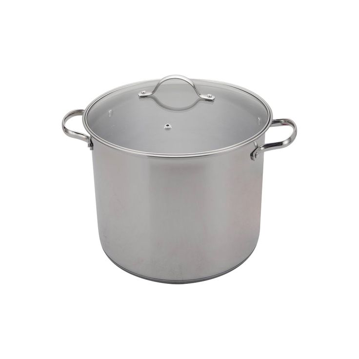 12 Quart Stainless Steel Stock Pot - Room Essentials, Silver