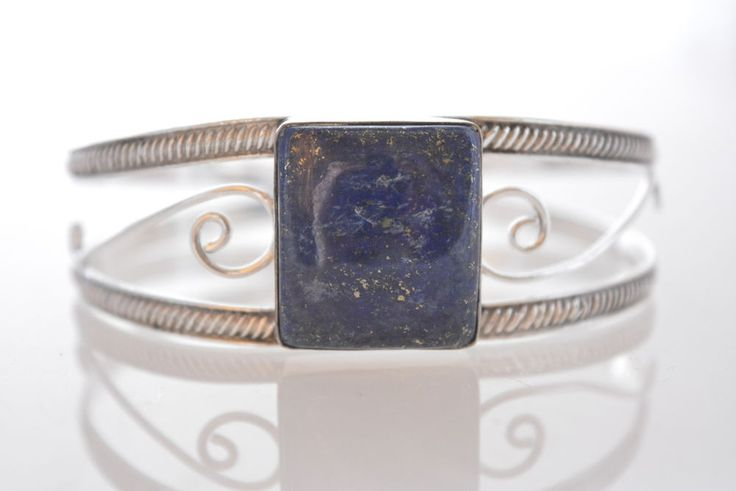 Awesome Lapis Lazuli New Teens Fashion Jewelry Silver Plated Cuff Bracelet K432 #925silvercastle #ChristmasForHer