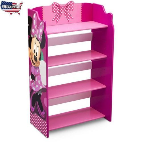 Girls-Bookshelf-Furniture-Bookcase-Toy-Storage-Organizer-Home-Furniture-Pink-New
