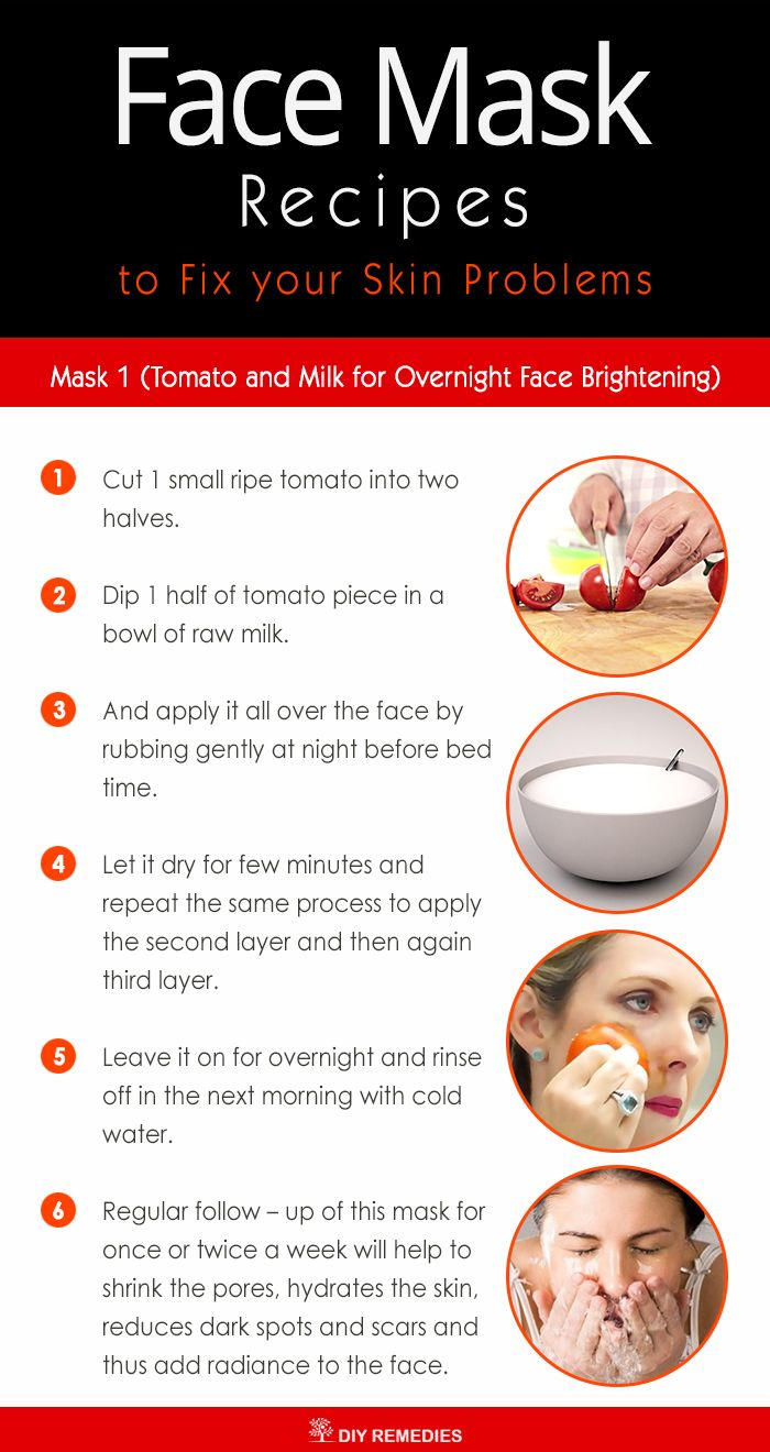 Tomato and Milk for Overnight Face Brightening  Tomato has natural bleaching and skin whitening properties that brighten up the skin tone. It is rich in vitamin C and has astringent and antioxidant properties which help to clear oily or black skin along with balancing the pH levels of the skin. #TomatoforFaceMask #MilkForFaceMask #OverNightFaceBrightening