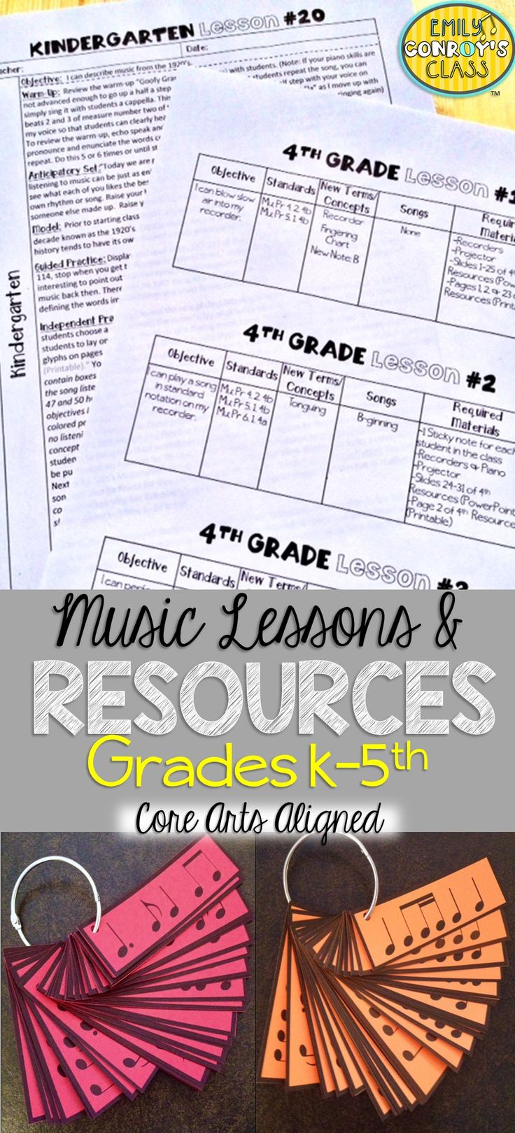 These elementary music lesson plans are aligned to the National Core Arts Standards! They are creative and concise and contain games, songs, posters, PowerPoint presentations, and other helpful music education resources for grades K-5. They also include notation and sound files for all of the songs mentioned in the lessons!