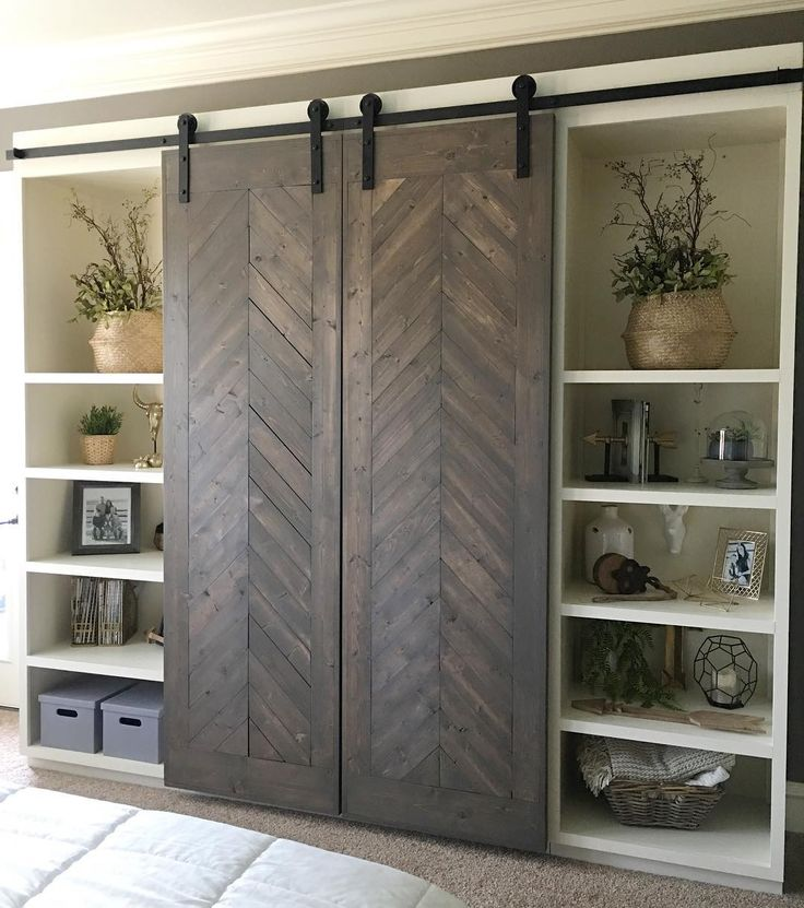 17 best images about doors on pinterest sliding barn - Bedroom cabinets with sliding doors ...