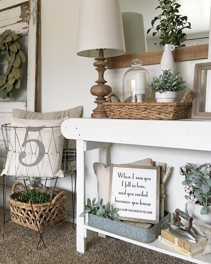 Farmhouse Foyer Table Decor : Best farmhouse style decorating ideas on pinterest