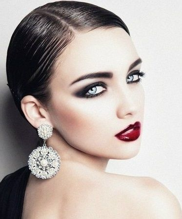 Spanish Look - Red Lips - Smoky Black Eyes (this would work for my dance showcase look)