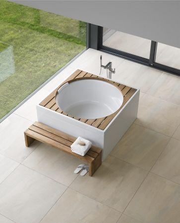 Bring home the blue moon bathtub from Duravit #ShopOnline #InteriorDesign #Design #Architecture