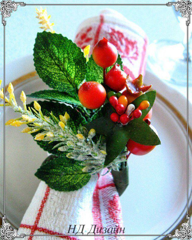 """Купить Кольца для салфеток """"Яблоневый сад"""" - зеленый, кольца для салфеток, сервировка стола, украшение стола"""