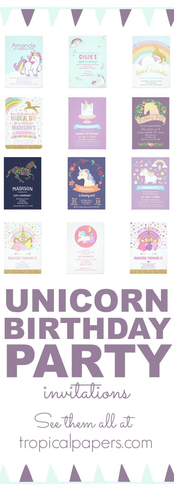 17 best ideas about holiday invitations holiday throwing a unicorn theme birthday party for your little girl check out our full selection